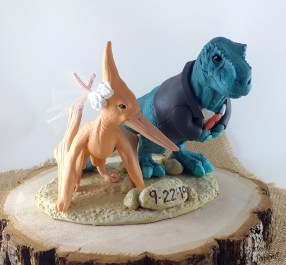 Dinosaurs T-rex and Pteranodon Cake Topper