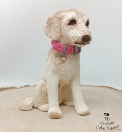 Labradoodle Cream Custom Cake Topper