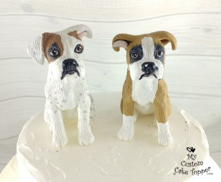 Boxer Dogs Cake Topper