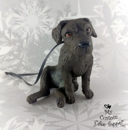 Shar Pei Black Lab Christmas Ornament
