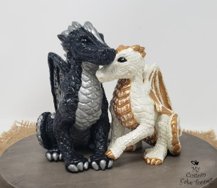 Runic Dragons Cake Topper