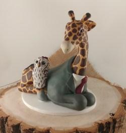 Giraffe and Owl Cake Topper