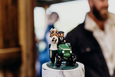 Hannah's Bride and Groom Tractor Cake Topper 4