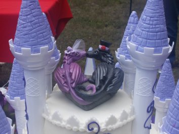 Jody's Dragon and Castle Wedding Cake