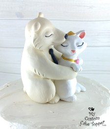 Polar Bear and Cat Cake Topper
