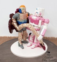 Transformers Beast Wars Rattrap and Arcee Cake Topper
