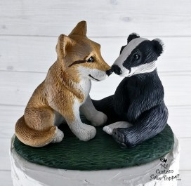 Wolf and Badger Realistic Cake Topper