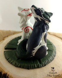 Okami Amaterasu Wolf Link Zelda Cake Topper 2