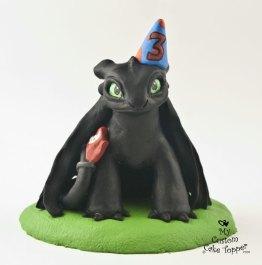 Nightfury Toothless Birthday Topper