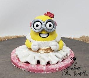 Minion Baptism Cake Topper