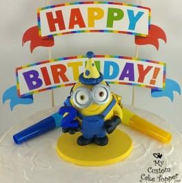 Minion 2nd Birthday Cake Topper