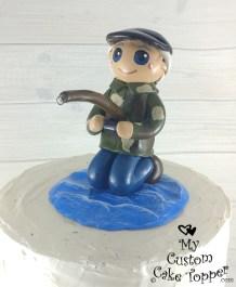 Retirement Fishing Cake Topper