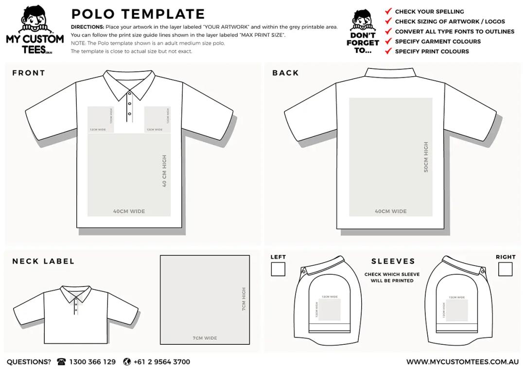 my custom tees polo template