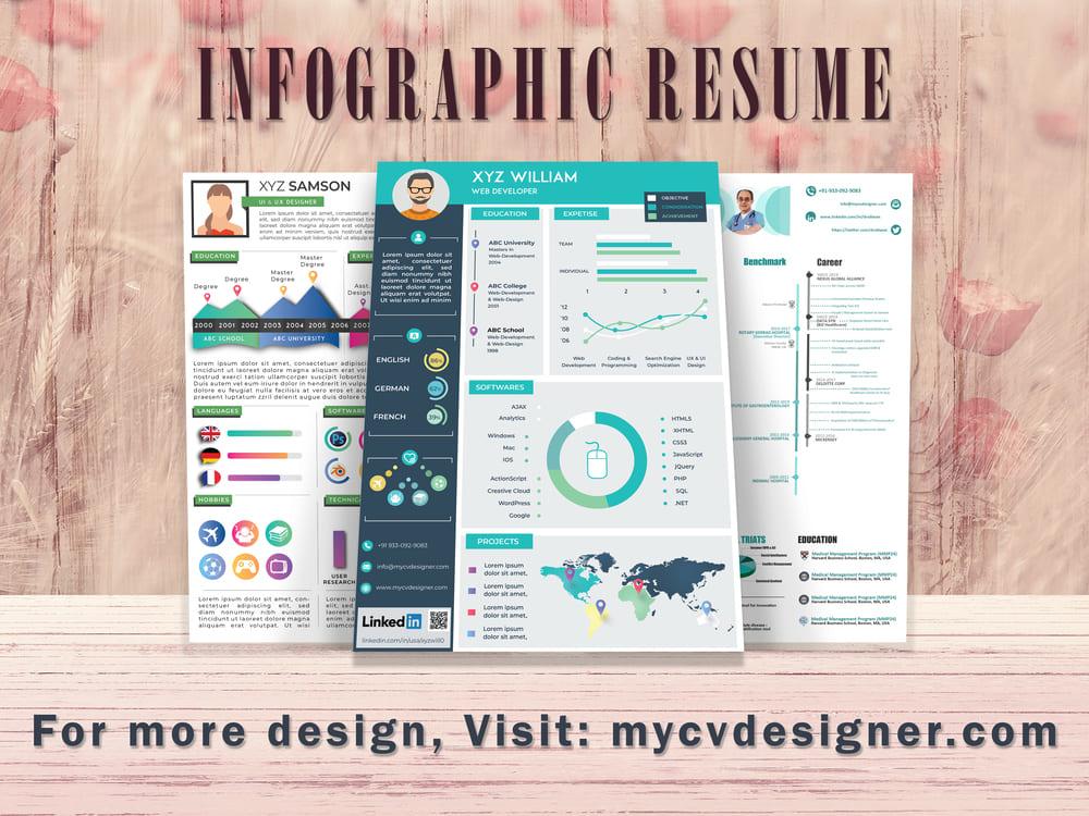 multiple-infographic-resume-infographic-cv-sample