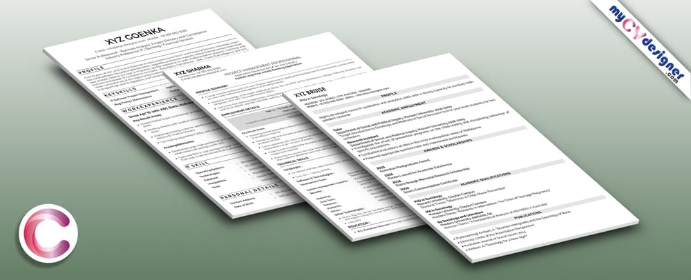 Text CV/Resume Sample Template