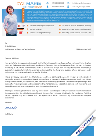 Cover Letter - Designed (MCDCLD0129)