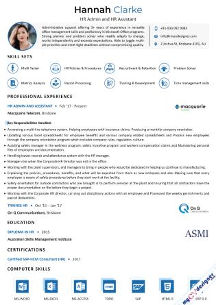 Visual CV (MCDV0020)