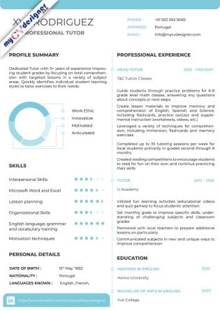 Visual CV (MCDV0021)