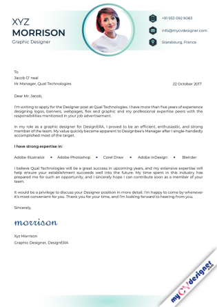 Cover Letter - Designed (MCDCLD0123)