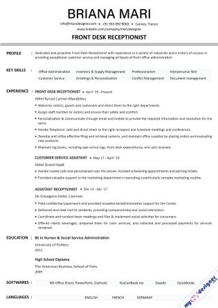 Text CV (MCDT0023)