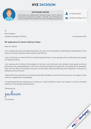 Cover Letter - Designed (MCDCLD0126)