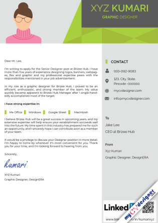 Cover Letter - Designed (MCDCLD0112)