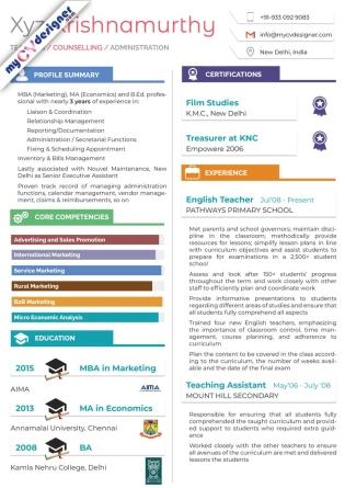 Visual CV (MCDV0011)