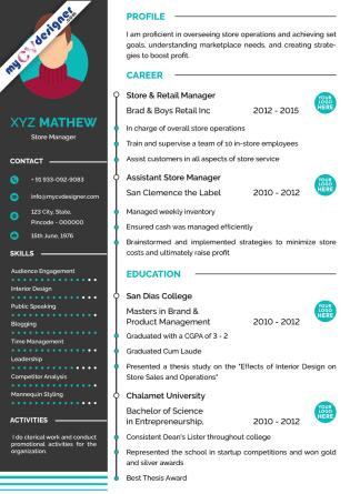 Visual CV (MCDV0004)
