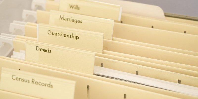 organized financial files folders