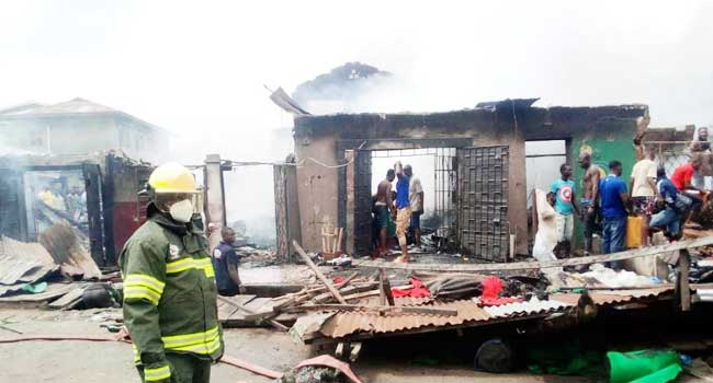 Fire Razes Mattress Market In Mushin
