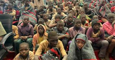 A cross section of the rescued students of Government Science Secondary School Kankara Katsina State