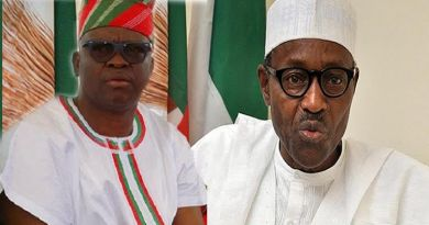 Ayo Fayose and Muhammadu Buhari