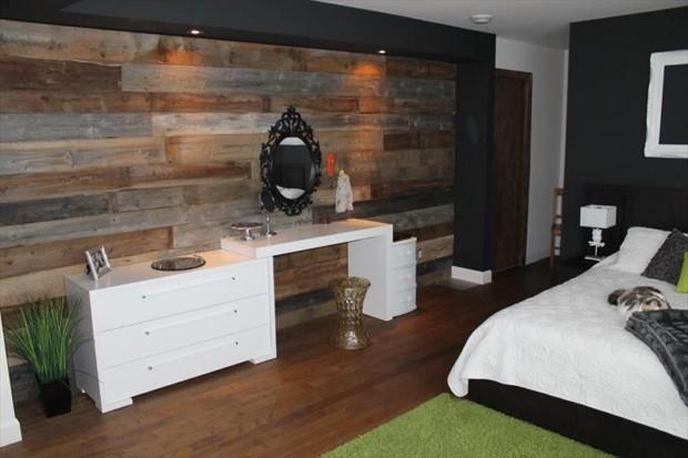 DIY Reclaimed Wood Wall Panels - My Daily Magazine - Art ... on Small Room Pallet Bedroom Ideas  id=77995