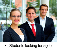 Students looking for a job