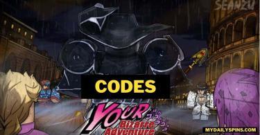 YBA codes your bizarre adventure
