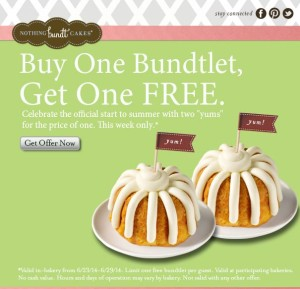 Been to Nothing Bundt Cakes? Share your experiences!