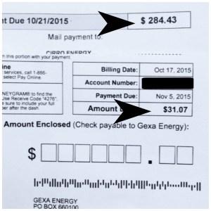 Energy Bill 1
