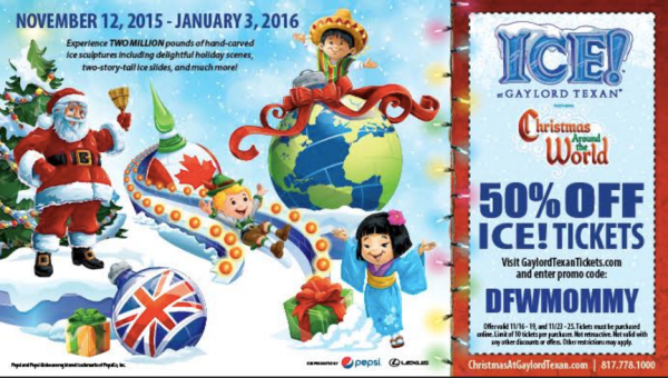 56a70fcd HOT DEAL* ICE! at the Gaylord Texan Tickets 50% Off - My DFW Mommy