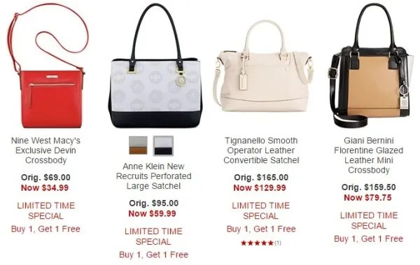 9d56c6cbfccd Macy's~ Up To 70% Off Coach and Michael Kors Handbags + Select Clearance  BOGO FREE