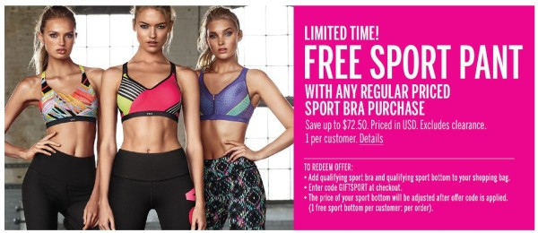 dc21fe41afb Victoria s Secret  Free Shipping + Free Sports Pant w  Bra Purchase ...