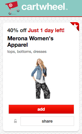 1cb2e48b316 Target just released a new Cartwheel Savings Offer valid for 40% off Merona  Women s Apparel including dresses