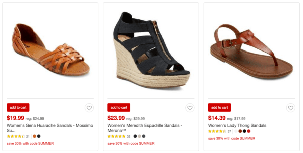5295135a1dbc Target~ Extra 30% off Sandals   Flip Flops Today Only - My DFW Mommy