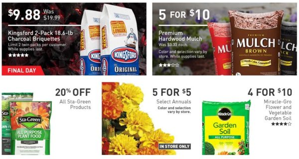 Lowe S Labor Day Deals Kingsford Charcoal Mulch Flowers Paint