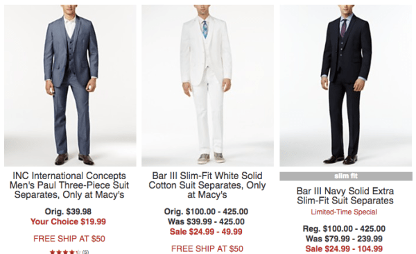 HOT! Men's Suits / Suit Separates Starting Under $15 - My DFW Mommy