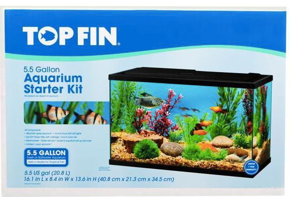 Petsmart 5 5 Gallon Top Fin Aquarium Starter Kit Only 17 Reg 39 99 My Dfw Mommy