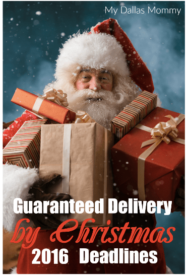 Guaranteed Delivery by Christmas 2016 Deadlines
