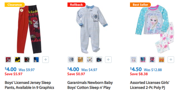 9e2a2af1bb ... new product 645d4 b9471 Visit Walmart where they are offering nice  deals on Kids Pajamas. newest 676c0 2d835 Garanimals Baby Toddler Boys ...