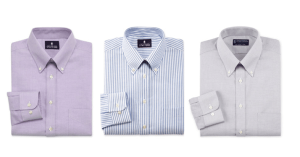Jcpenney men s stafford dress shirts only 12 each when for Where to buy stafford dress shirts