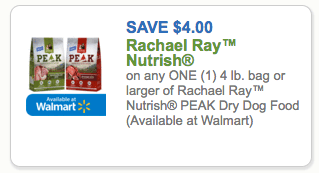 Printable Coupons For Rachael Ray Peak Dog Food
