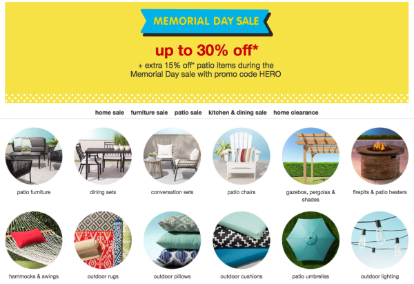 Target Memorial Day Sale Extra 15 Off Already Discounted Patio